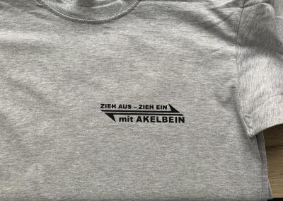 T-Shirt Akelbein Logo bedruckt